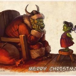 Merry Christmas. Иллюстрация Дмитрия Бурмака