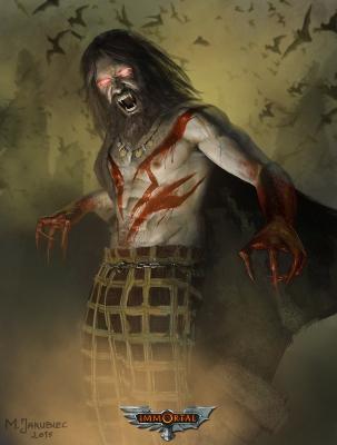 """Вампир. Иллюстрация Милека Якубца для игры """"Immortal"""""""