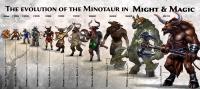 Эволюция минотавра в серии игр Might&Magic