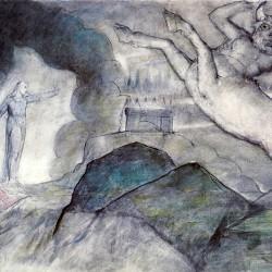 """Минотавр на иллюстрации У.Блейка к """"Божественной комедии"""" Данте Алигьери (Inferno, XII)"""