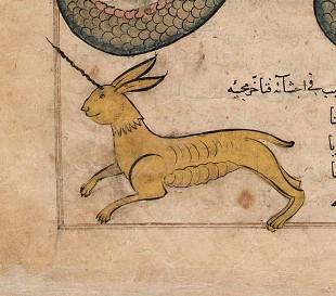 """Мирадж. Иллюстрация к трактату Аль-Казвини """"Чудеса создания и чудеса существ и странных существующих вещей"""""""