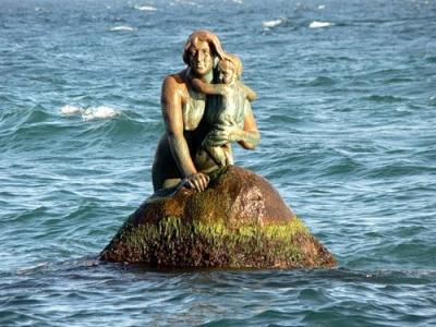 Мисхорская русалка. Скульптурная композиция