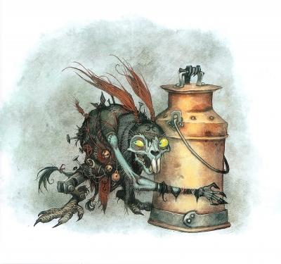 Молочный заяц (Мьёлькхаре). Иллюстрация Юхана Эгеркранса