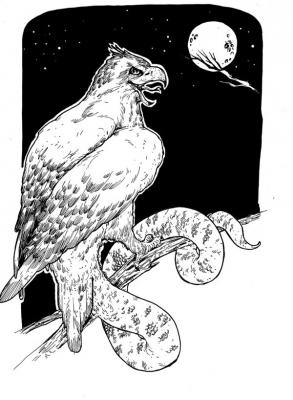 """Мойанг Ланг Куит. Иллюстрация Мод Кадира (Mohd Kadir) для """"Малазийской книги нежити"""""""