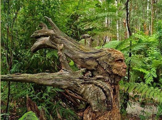 Дриада, мужской вариант. Скульптура Бруно Торфса