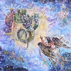 Гаруда добывает aмриту. Картина А.Фанталова