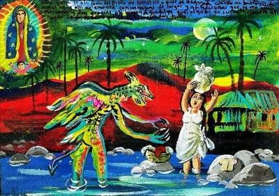 Ретабло в благодарность Деве Гваделупской за избавление от нагваля