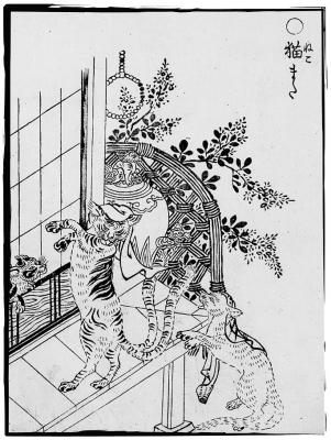 Нэкомата. Иллюстрация Ториямы Сэкиэна