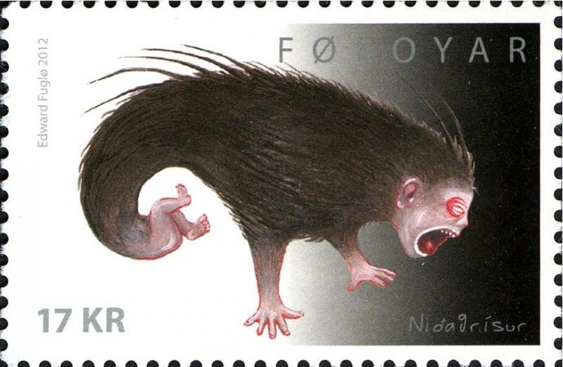 Нидагрисур на марке Фарерских островов, 2012 год