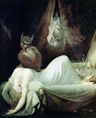 Nightmare. Картина Генриха Фюссли, 1802
