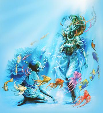 """Нингё. Иллюстрация Ника Харриса из книги """"Мифические существа"""""""