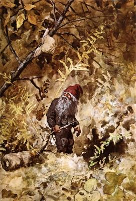 Ниссе и улитка. Иллюстрация Теодора Киттельсена