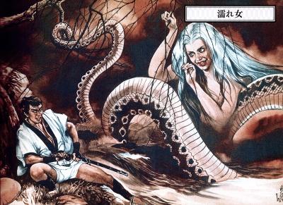 """Нурэ-онна. Иллюстрация Годзина Исихары из """"Иллюстрированной книги японских монстров"""""""