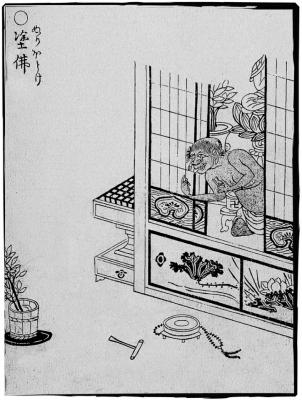 Нури-ботокэ. Иллюстрация Ториямы Сэкиэна