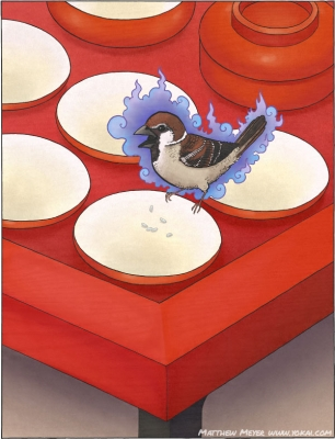 Нюнай-судзумэ. Иллюстрация Мэтью Мэйера