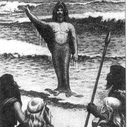 """Современный рисунок """"Выход Оанна из моря"""""""