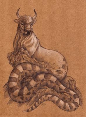 Офиотавр. Рисунок Софи Лиз