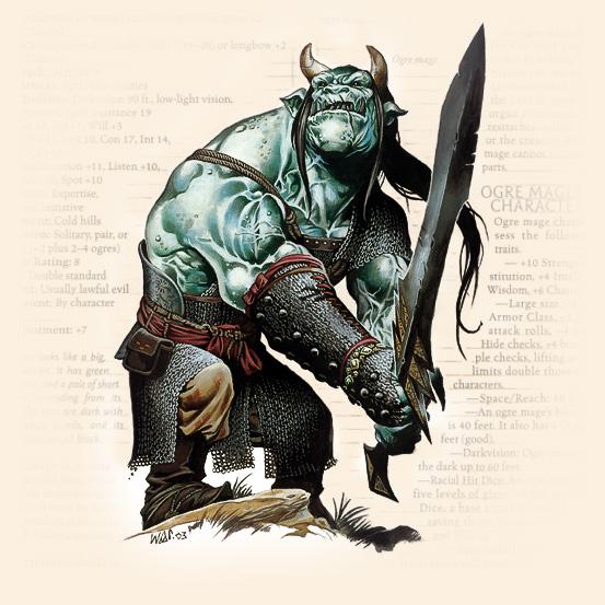 Ogre Mage. Иллюстрация Уэйна Рейнолдса к сеттингу D&D