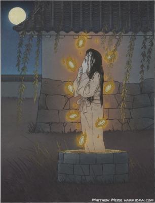 Окику. Иллюстрация Мэттью Мэйера