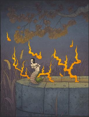Окику-муси. Иллюстрация Мэттью Мэйера