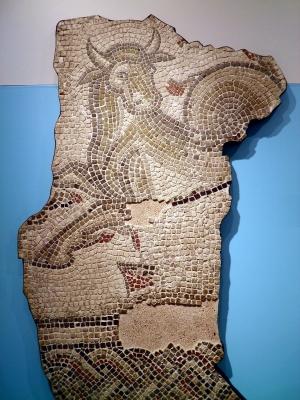 Офиотавр. Фрагмент римского мозаичного пола, Йорк, 44-410 годы н.э.