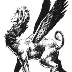 Опиникус из бестиария AD&D. Иллюстрация Джима Холлоуэя