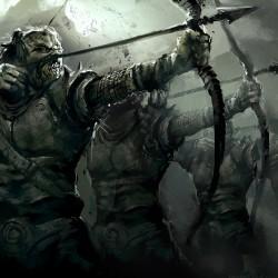 Орки-лучники. Иллюстрация Дарека Заброцкого