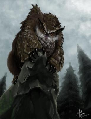 Совомедведь (Ель Бу). Иллюстрация Мака Хилльера