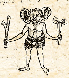 Панотий. Маргиналия в рукописи из коллекции герцога Рутланда