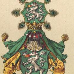 Геральдическая пантера на гербе Штирии (XIX в.)