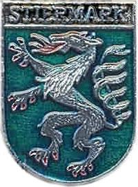 Геральдическая пантера на гербе Штирии (значок)