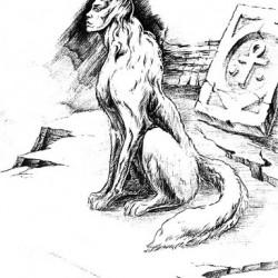 Первач-пес. Карандашный рисунок Павла Левчука