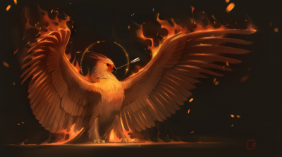 Феникс. Иллюстрация Александры Хитровой (GaudiBuendia)
