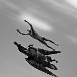 """Скульптура Карла Миллеса """"Человек и Пегас"""""""