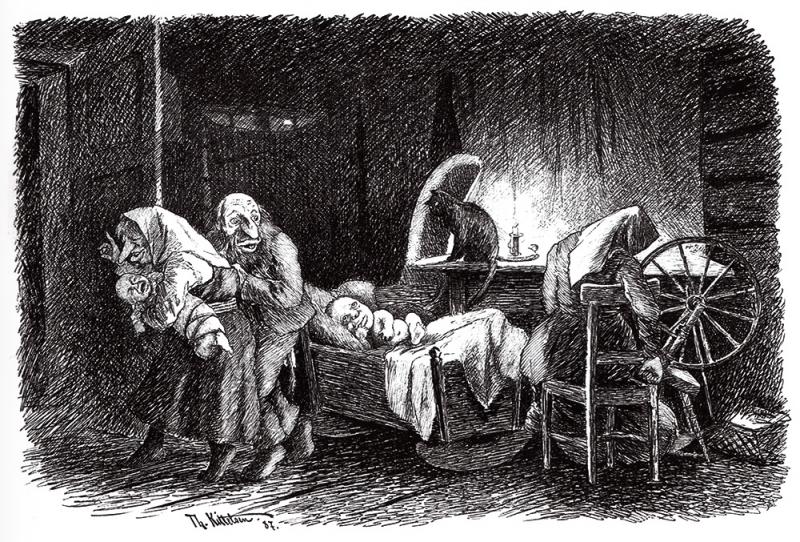 Подменыш. Рисунок Теодора Киттельсена
