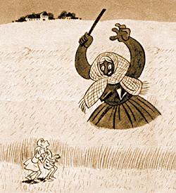Ржаная тетушка Роггенмеме. Рисунок Рихарда Бейтла