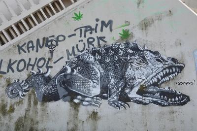 Похьяконн. Граффити Эдварда вон Лонгуса в Тарту