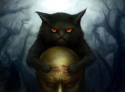 Черный кот. Иллюстрация Давида Григоряна (inozemmm)