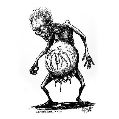 Прета. Иллюстрация Юрия Микулетича