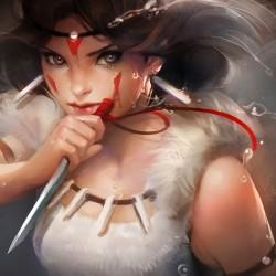 Принцесса Мононокэ. Иллюстрация Сакими Чан
