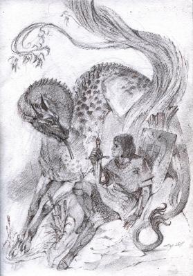 Зверь Рыкающий. Рисунок Светланы Игнатовой