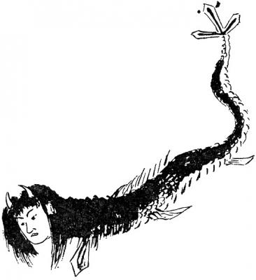 """Дзиндзя-химэ. Рисунок Като Эйбиана из его книги """"Вага коромо"""""""