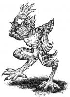 Гремлин. Рисунок Ракаэля Майо