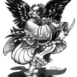 Тэнгу. Рисунок Ракаэля Майо