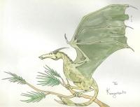 Kongamato — Dragon of the Congo. Рисунок Сары Валла