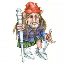 """Красная шапка. Иллюстрация из книги """"Загадочные существа"""""""