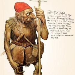 Гоблин из племени Красных Шапок (Red Cap). Иллюстрация Алана Ли