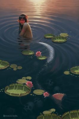 Иара. Иллюстрация Мишеля Робсона