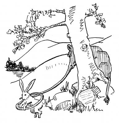 """Роперит. Иллюстрация Маргарет Рэмси Трайон из книги """"Устрашающие твари"""""""