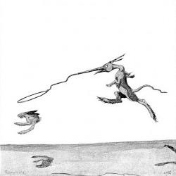 """Роперит. Иллюстрация Кёр Дю Буа из книги """"Устрашающие твари промысловых лесов"""""""